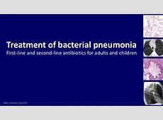 list of antibiotics for pneumonia