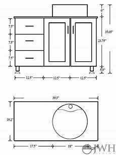 Dimensions Of Bathroom Vanity 39 quot lune single bath vanity bathgems