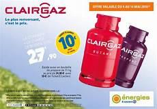 bouteille de gaz clairgaz butane consigne avec 10 en