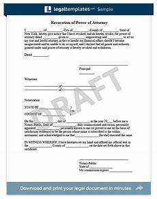 create a revocation of power of attorney legaltemplates