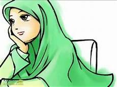 Gambar Kartun Wanita Berjilbab Lucu Imut Gambar Foto