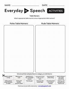 table manners everyday speech everyday speech