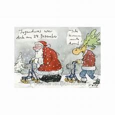 weihnachtsmann rentner gaymann postkarte