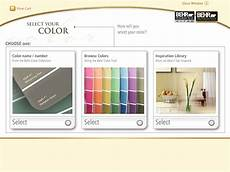 behr paint colorsmart web app kiosk behance