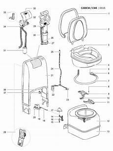 Caravansplus Spare Parts Diagram Thetford C200 Spare Parts