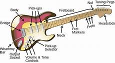 need to know the parts of the electric guitar