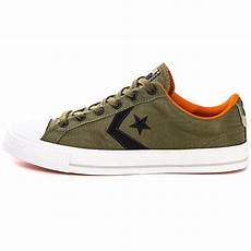 converse player ox mens trainers in olive black