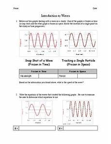 physical science basics waves worksheet 13215 introduction to waves worksheet for 8th 10th grade lesson planet