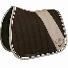 tapis de selle tapis de selle 233 quitation cheval jump marron beige fouganza