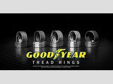 Officially Licensed Goodyear Tire Rings, Tread Rings