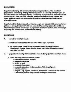 population distribution density worksheet answer key by robert s resources