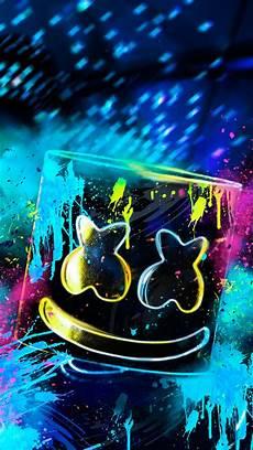 Logo Wallpaper Design Neon Marshmello