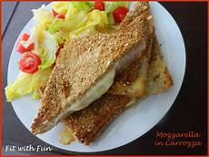 mozzarella in carrozza forno mozzarella in carrozza light cotta al forno