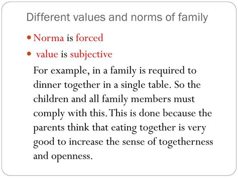 Family Values Definition