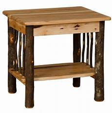 hickory oak rustic end table amish made usa ebay