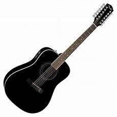 Fender Cd 160 Se 12 String Electro Acoustic Guitar Black