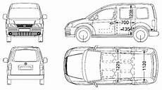 Caddy Technische Daten - 2006 volkswagen caddy wagon blueprints free outlines