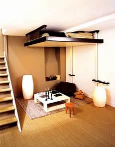 espace loggia lit mezzanine plateau mobile electrique jour