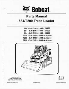 864 bobcat wiring schematic bobcat t200 rubber track loader parts manual book 864 finney equipment and parts