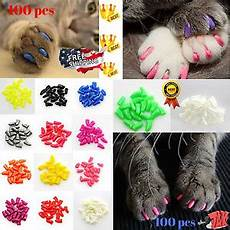 100 Pcs Cat Claw Covers Cat Nail Caps Claw Medium Size Soft 100pcs And 5pcs