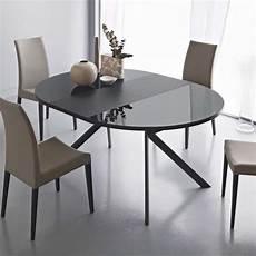 table en verre ronde table ronde extensible en verre giove 4 pieds