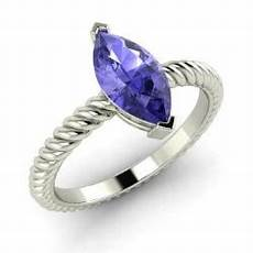 adorna ring with marquise cut tanzanite 0 79 carat