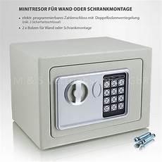 mini tresor zahlenschloss elektronisch minisafe wandtresor
