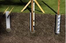 zaunpfosten einbetonieren ausrichten the foundation for your fence choose and install rona