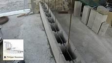 mur beton banch 233 en bloc a bancher ancrage sur dalle