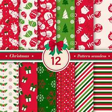 merry christmas pattern seamless collection premium vector