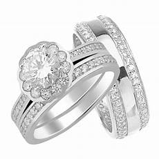 laraso co his and hers halo wedding ring matching