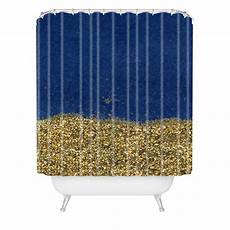 Navy And Gold Curtains by Dipped In Gold Navy Shower Curtain Social Proper