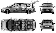 dimension grand scenic 2 2005 renault grand scenic ii minivan blueprints free outlines