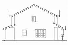 side view house plans craftsman house plans rothbury 60 016 associated designs