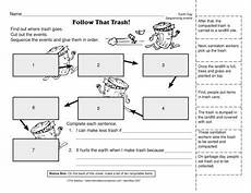 science worksheet maker 12306 an earth day worksheet for sequencing the trail that trash takes a great tool for reinforcing