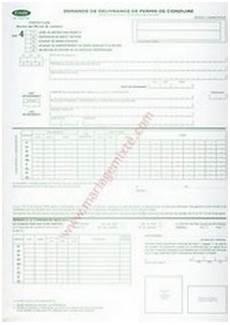 renouvellement permis de conduire e application form formulaire demande passeport qu 233 bec