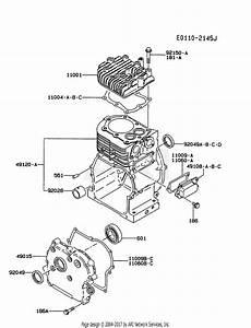 Kawasaki Fa210d Gs05 4 Stroke Engine Fa210d Parts Diagram