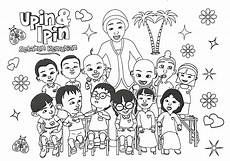 Upin Ipin Their Friends Colouring Pages Picolour