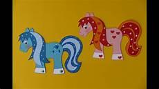 pferd pony tiere basteln plus malvorlage pferd