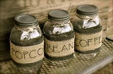 Personalised Kitchen Jars by Personalized Jar And Burlap Canisters Rustic