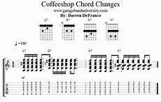 cool guitar chord progressions 7th chord acoustic guitar lesson garage band