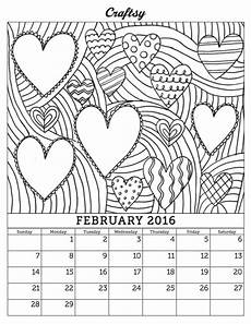 calendar coloring pages 17570 you re going to this it s the second craftsy calendar page for 2016 and print