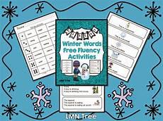 free worksheets for kindergarten 15533 lmn tree winter edition of fluency tips activities and freebies fluency activities
