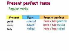 past form of tidy present tense slideshow