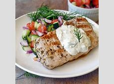dijon pork chops with red wine vinegar and herbs_image