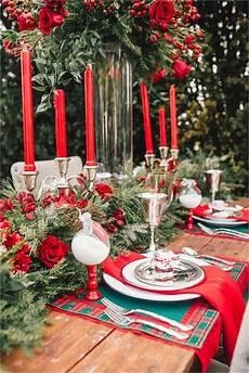 weihnachtstisch festlich dekorieren ideas for table decorations corner
