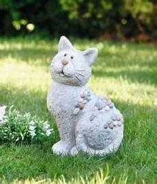 Deko Katze Garten - deko figur stein katze fieberglas ton garten terrasse