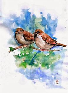 Gambar Ilustrasi Burung Gereja Iluszi