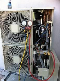 pompe a chaleur air eau plancher chauffant pose d une pompe 224 chaleur air eau altherma daikin reli 233 e