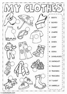 worksheets clothing 18811 the clothes clothes worksheet
